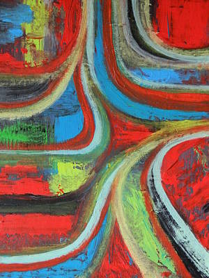 Poster featuring the painting Dream Highway by Everette McMahan jr