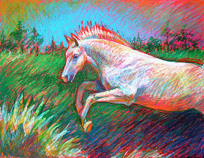 Poster featuring the painting Dream Horse by Nancy Tilles