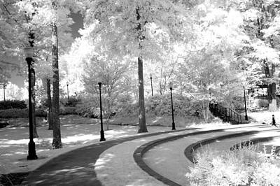 Dreamy Black White Infrared Nature Landscape Poster
