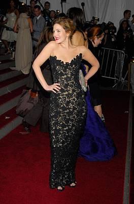 Drew Barrymore Wearing Oscar De La Poster by Everett