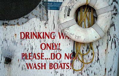 Drinking Water Only Poster by Patricia Greer