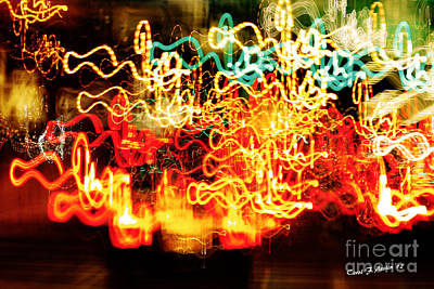 Painting With Light  Home For The Holidays Poster by Carol F Austin