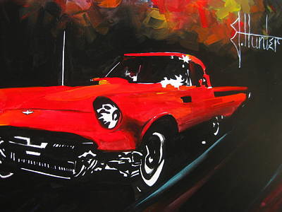 Driving In The Fall Poster by Jeff Hunter
