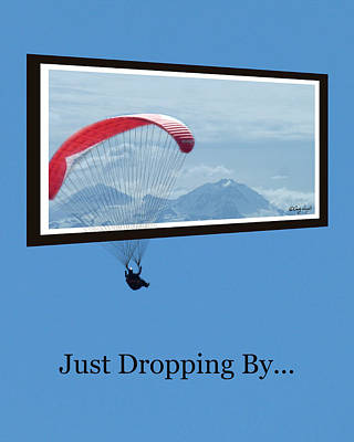 Dropping In Hang Glider Poster by Cindy Wright