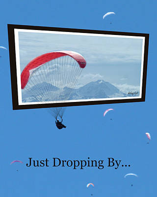 Dropping In Hang Gliders Poster by Cindy Wright