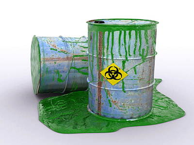 Drum Leaking Toxic Waste, Artwork Poster