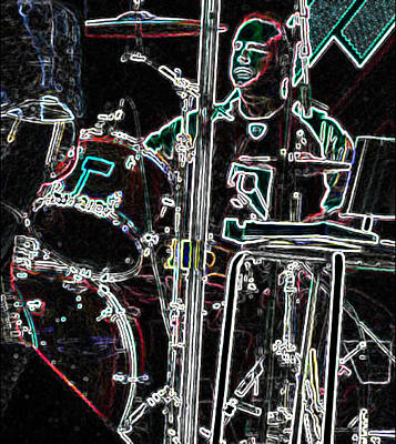 Drummer Poster by David Alvarez