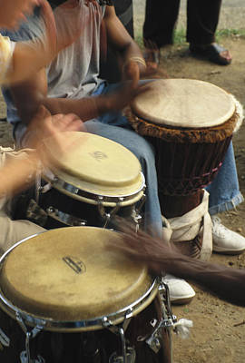Drummers Of Varied Backgrounds Join Poster