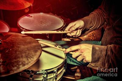 Poster featuring the photograph Drumming by Kim Wilson