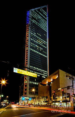 Duke Energy Tower At Night Poster
