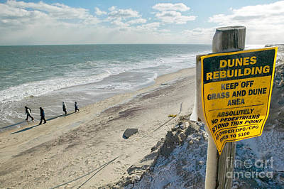 Dunes Rebuilding Keep Off Grass And Dune Area Cape Cod Poster by Matt Suess