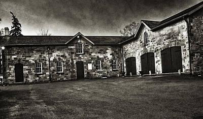 Durdurn Castle Coach House Bw Poster by Larry Simanzik
