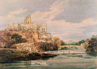 Durham Castle And Cathedral Poster by Thomas Girtin