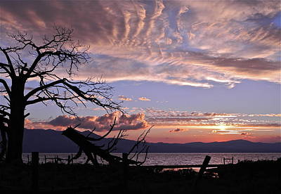 Poster featuring the photograph Dusk Over Lake Tahoe by Kirsten Giving