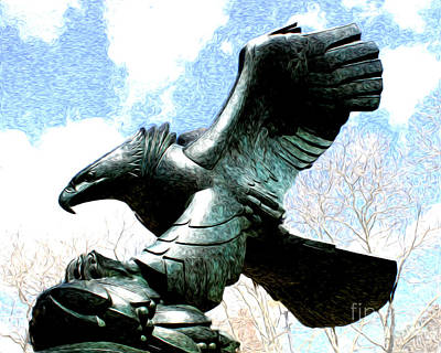 Poster featuring the photograph Eagle Of The East Coast Memorial by Anne Raczkowski