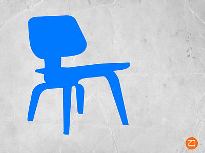Eames Blue Chair Poster