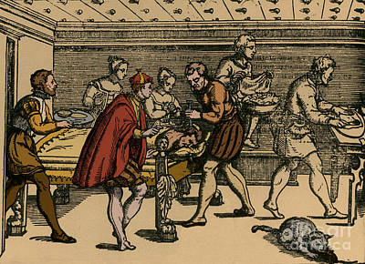 Earliest Depiction Of Craniotomy Poster by Photo Researchers