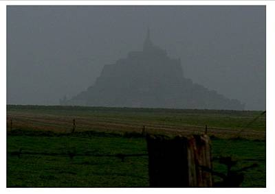 Poster featuring the photograph Early Am Approach To Le Mont-michel by Frank Wickham