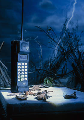 Early Mobile Phone Poster