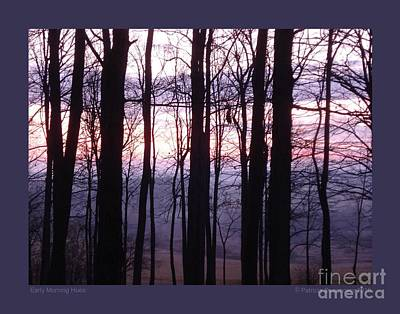 Poster featuring the photograph Early Morning Hues by Patricia Overmoyer