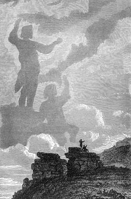 Early Sighting Of Brocken Spectres, 1797 Poster by