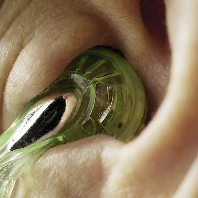 Earphone In An Ear Poster by Coneyl Jay