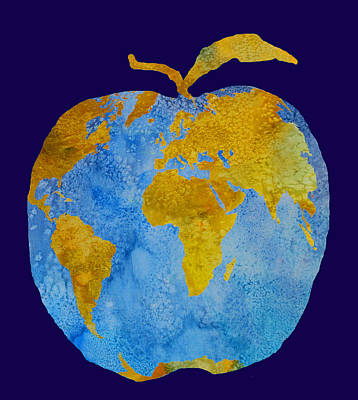 Earth Apple Poster by Jenny Armitage