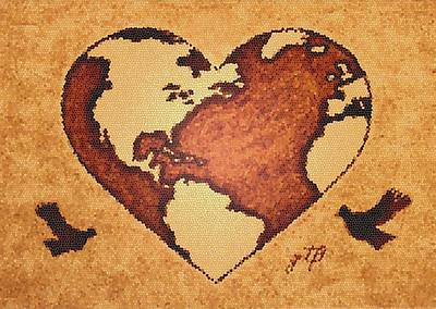 Earth Day Gaia Celebration Digital Art Poster by Georgeta  Blanaru