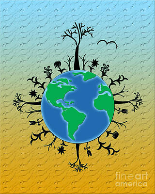 Earth Day Texture Poster by Linda Seacord