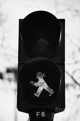 East German Ampelmannchen Go Walking Traffic Light Man Berlin Germany Poster