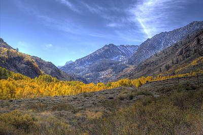 Eastern Sierras In Fall Poster by Michele Cornelius