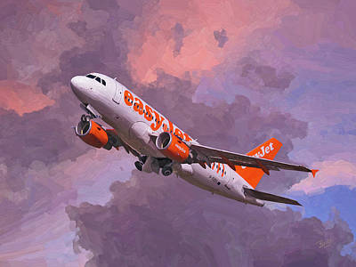 easyJet Airbus A319 take off Poster
