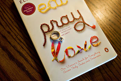 Eat Pray Love Poster by Malania Hammer