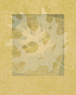 Ecru Leaf Poster by Ann Powell