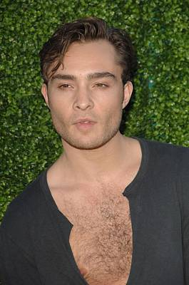 Ed Westwick At Arrivals For Cbs, The Cw Poster by Everett