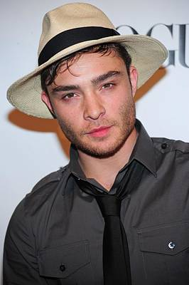 Ed Westwick At Arrivals For Express Poster by Everett