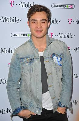 Ed Westwick At Arrivals For T-mobile Poster by Everett