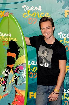 Ed Westwick In The Press Room For Teen Poster by Everett