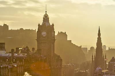 Edinburgh Castle, Balmoral Hotel, Scott Monument Poster by Alan Copson