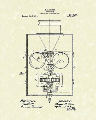 Edison Kinetoscope 1911 I Patent Art Poster by Prior Art Design