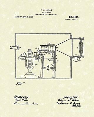 Edison Kinetoscope 1911 II Patent Art  Poster by Prior Art Design