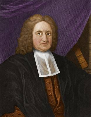 Edmond Halley, English Astronomer Poster by Maria Platt-evans