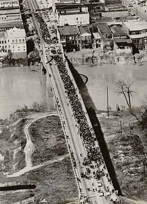 Edmund Pettus Bridge In Selma Alabama Poster by Everett