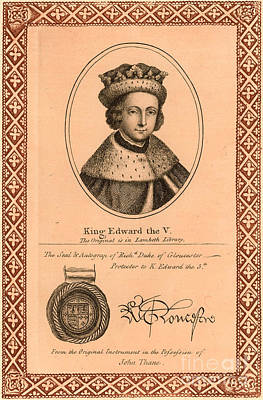 Edward V (1470-1483) Poster by Granger