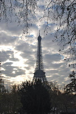 Poster featuring the photograph Eiffel In The Morning by Eric Tressler