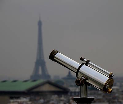 Eiffel Telescope Poster by Andrew Fare