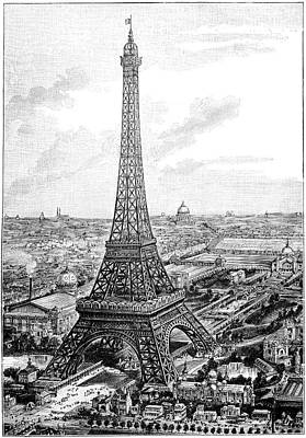 Eiffel Tower, 1889 Universal Exposition Poster by