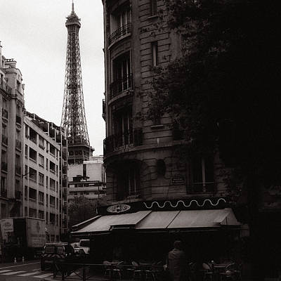 Eiffel Tower Black And White 2 Poster by Andrew Fare