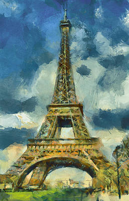 Eiffel Tower In Spring Poster