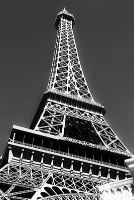 Eiffel Tower Vegas Style Poster by Leslie Leda